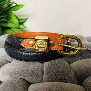 New w/ Tag Dooney & Bourke Black Leather Belt XS